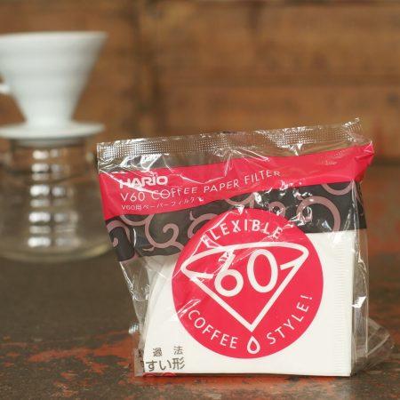 Filterpapier weiß für Hario V60 Filter Größe 2   Zubehör, der Cross Coffee Kaffeerösterei aus Bremen