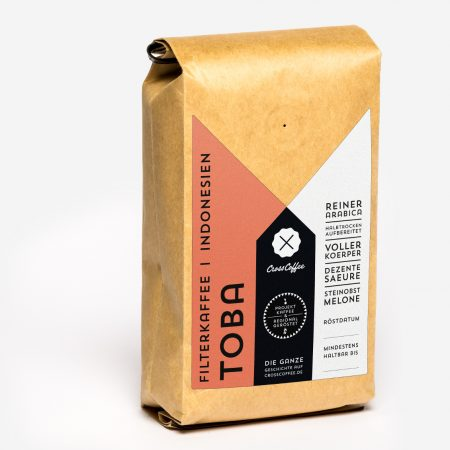 Produktfoto Filterkaffee TOBA, Sumatra, Kaffee geröstet von der Kaffeerösterei Cross Coffee aus Bremen