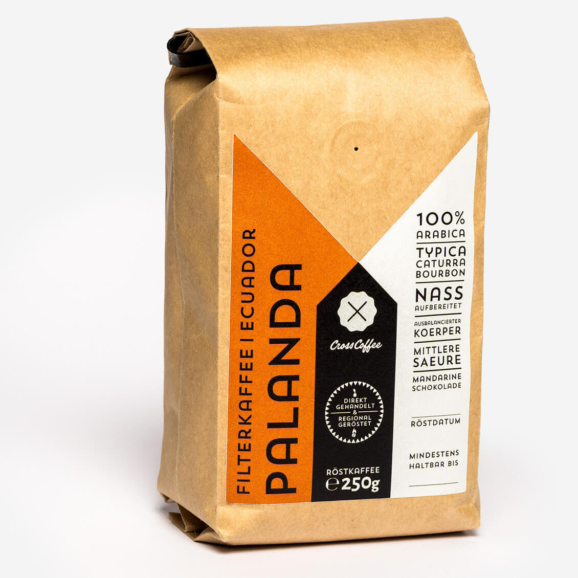 Produktfoto: Filterkaffee Palanda aus Ecuador, geröstetet von der Speciaty Coffee Kaffee Rösterei Cross Coffee | Transparent Trade Coffee
