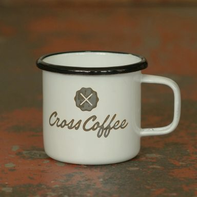 Cross Coffee Travel Mug aus Emaille