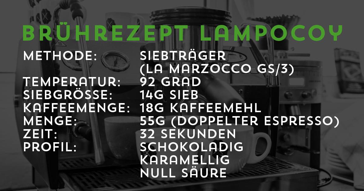 Brührezept Lampocoy Espresso aus Guatemala | Transparent gehandelt von der Kaffeerösterei Cross Cofee aus Bremen