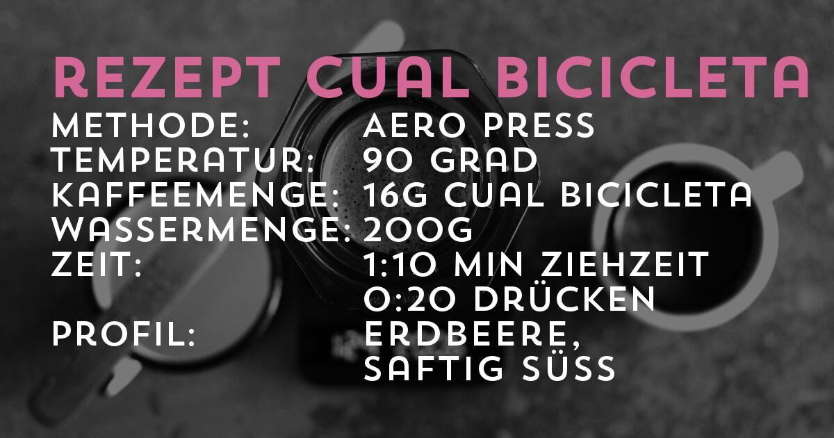 Brührezept Finca Cual Bicicleta, Microlot Natural Catuai, Honduras COMSA | Kaffeerösterei Cross Coffee, third wave coffee aus Bremen