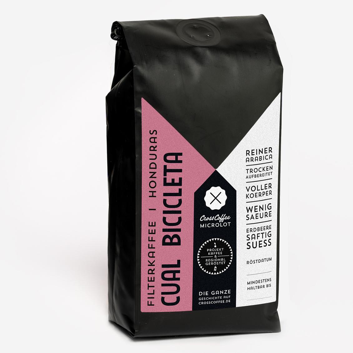 Produktbild Microlot CUAL BICICLETA Filterkaffee, Spezialitätenkaffee (specialty coffee)der Kaffeerösterei Cross Coffee aus Bremen