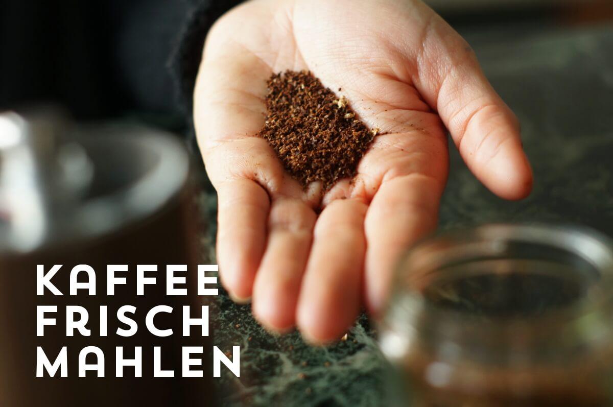 Kaffeezubereitung French Press, Schritt 2: Kaffee grob mahlen