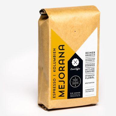Produktfoto Espresso La MEJORANA, Kolumbien, Kaffee geröstet von der Kaffeerösterei Cross Coffee aus Bremen